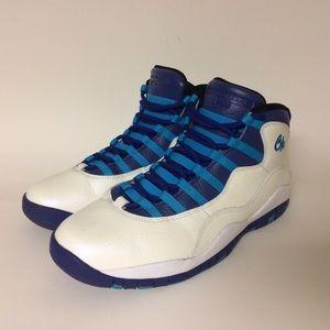 Air Jordan Retro 10 Charlotte Blue Purple White